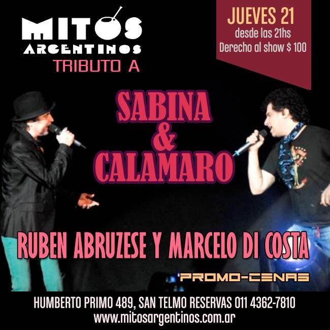 Tributo a SABINA Y CALAMARO en Mitos Argentinos