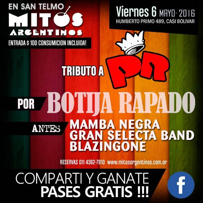 6-5-2016 Botija Rapado con su tributo a Los Redondos