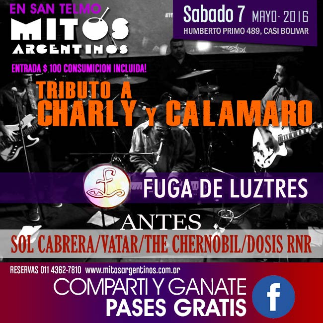 7-5 tributo a tributo a CHARLY y CALAMARO
