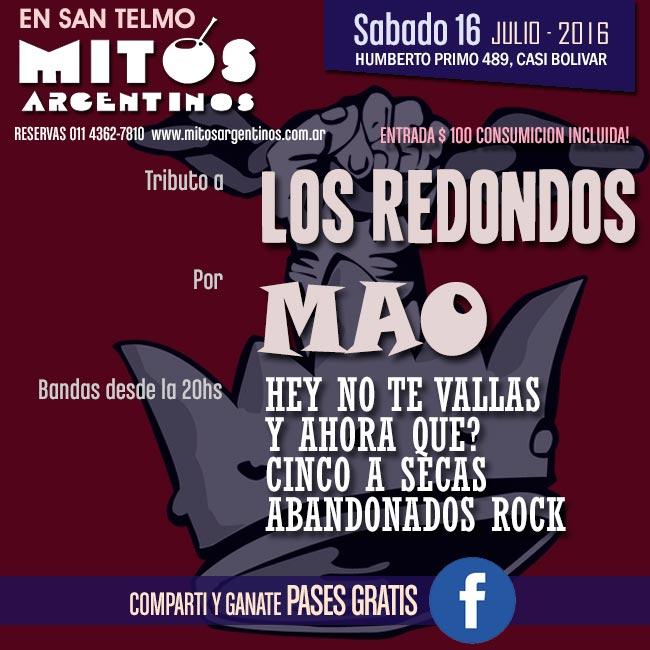 16-7-16 bandfas en vivo mitos argentinos