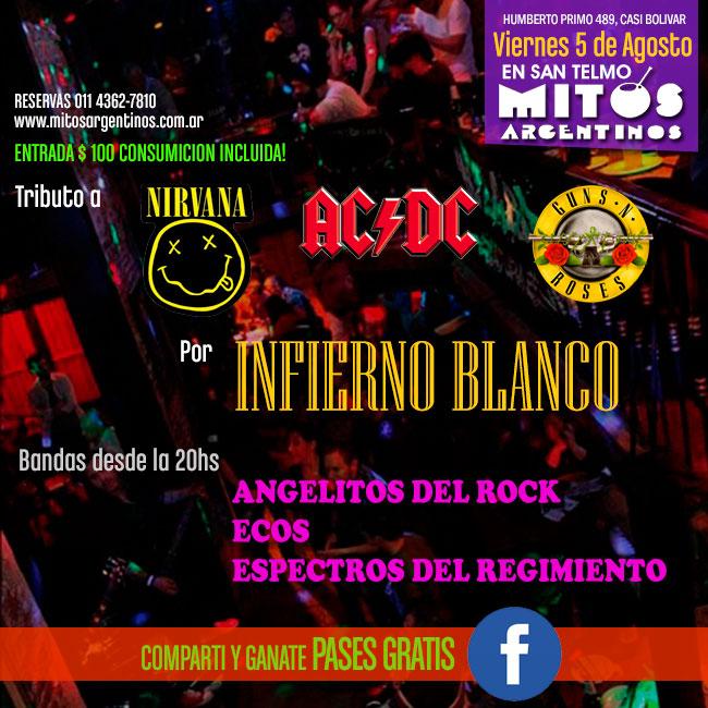 5-8 homenaje al rock internacional